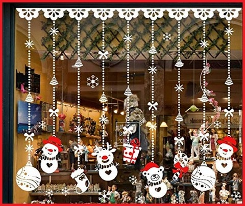 Addobbi natalizi per esterno negozio