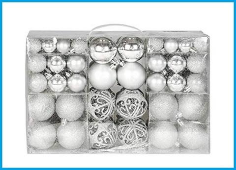 Decorazioni natale colore argento