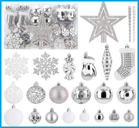Decorazioni per natale in argento