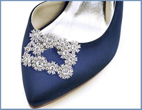 Decorazione scarpe argento