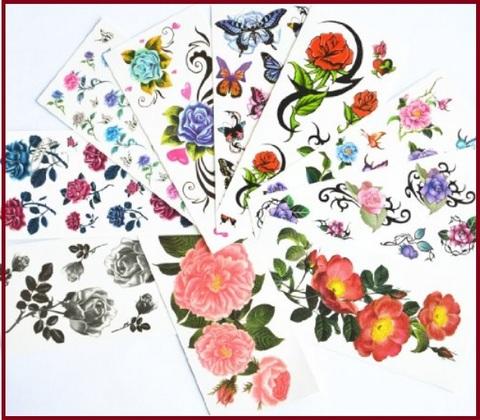 Disegni Tattoo Vari Tema Fiori E Farfalle