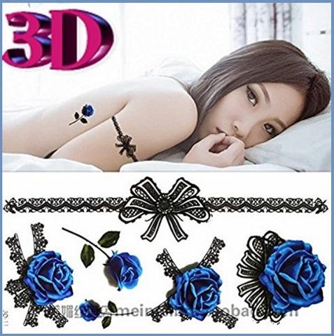 Disegni tattoo rose blu e bracciale