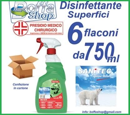 Disinfettante igienizzante superfici