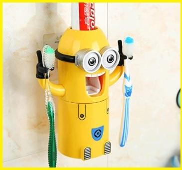 Portaspazzolino per bambini per dentifricio carrozzina e dentifricio a
