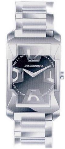 Chronotech diagonal square acciaio solo tempo uomo