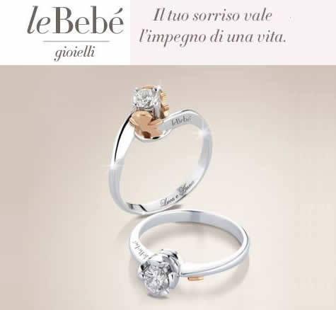 Anello solitario in oro bianco e diamante