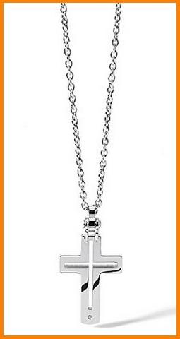 Collana con pendolo a forma di croce uomo