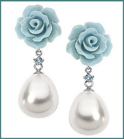 Orecchini da donna con perle comete