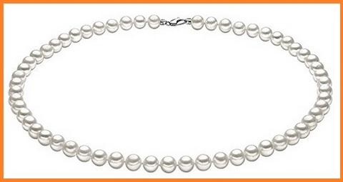 Collana di perle classico in oro bianco