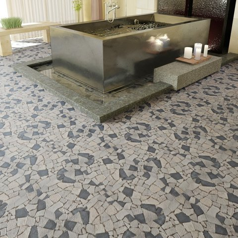 Pavimenti in marmo realizzati da artisti