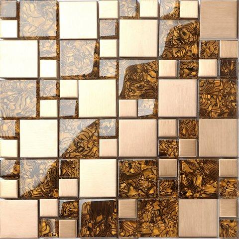 Pavimenti in marmo lucido mosaico