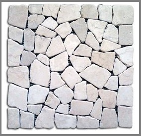 Pavimento in mosaico pietra naturale set 11 pezzi