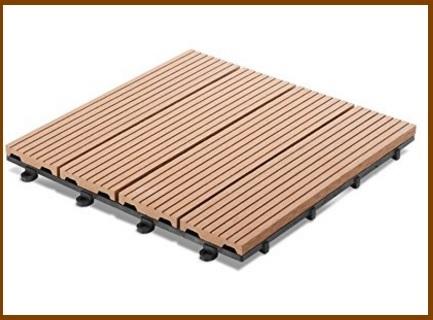Pavimento ad incastro, per terrazzi in legno e resina