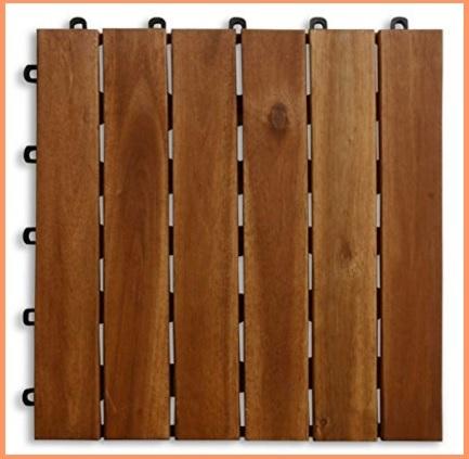 Piastrelle quadrate in legno, per terrazzi