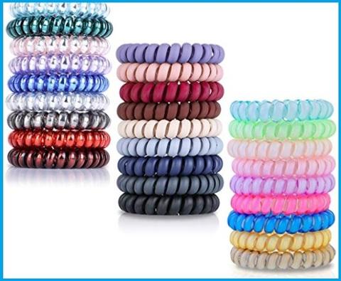 Elastici capelli a spirale colorati