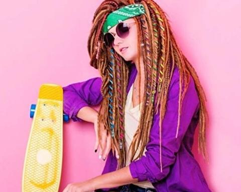 Elastici capelli spirale colorati
