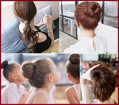 Elastici capelli chignon fasce elastiche