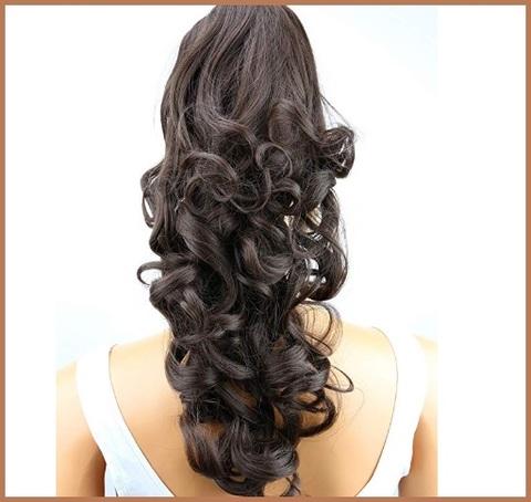 Elastici capelli finti lunghi