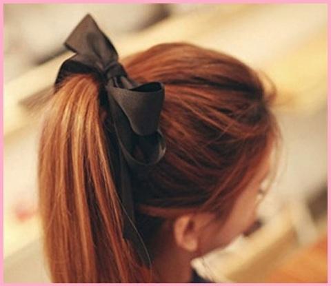 Elastico fiocco capelli donna