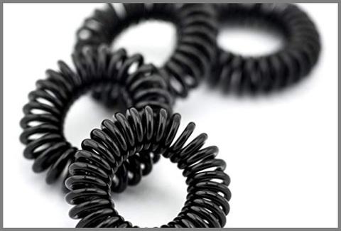 Elastico dal colore nero spirale