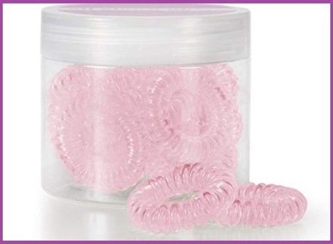 Elastici capelli rosa spirale