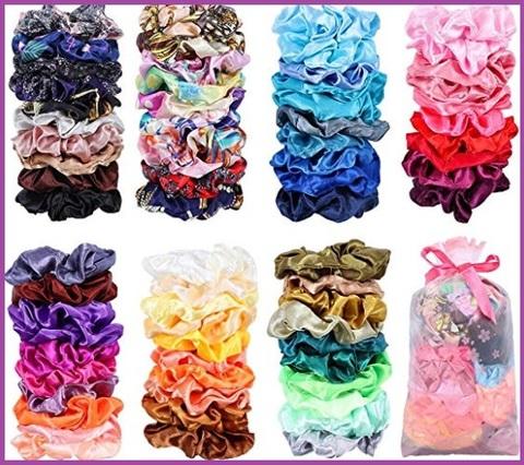 Elastici capelli seta colorati