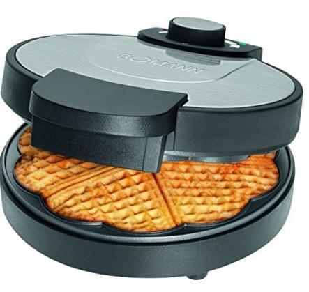 Waffle in acciaio inox con piastre antiaderenti