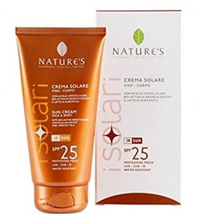 Crema solare viso corpo nature