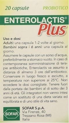 Integratore alimentare fermenti lattici capsule
