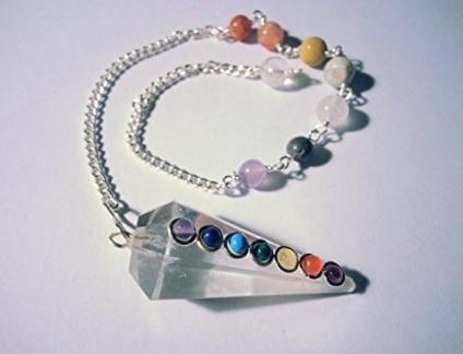 Pendolo gemma con i 7 chakra
