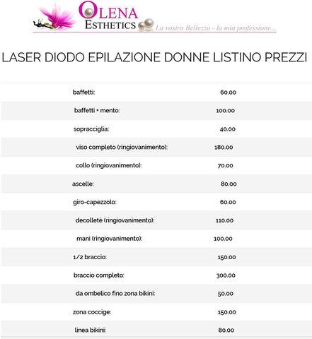 Listino prezzi laser diodo donne