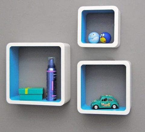 Kit 3 cubi mensole libreria cornice 4 colori ufficio new