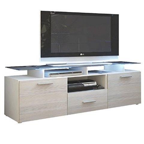 ... porta tv cassetti e top vetro laccato sala - Mobili in Kit Milano