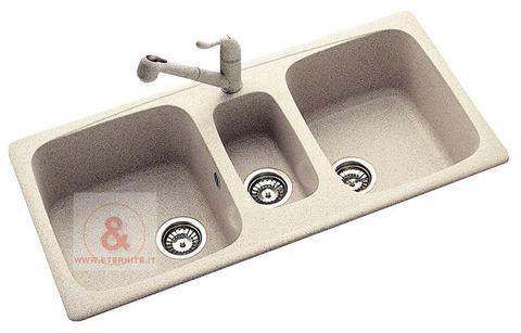 Lavello cucina incasso pietra 2v 116 cm fragranite | Grandi Sconti ...