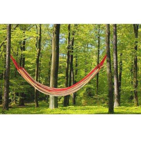 Amaca giardino in tessuto per momenti di relax completa