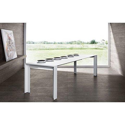 Tavolo laccato bianco lucido per sala o cucina tavoli for Tavolo bianco lucido