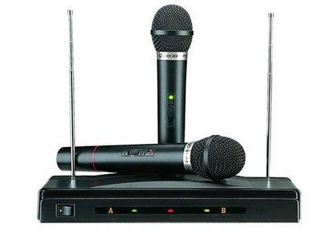 Microfono wireless con e senza filo at-309 wifi pc k&k