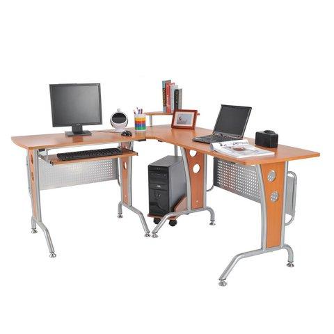 Scrivania ad angolo per computer scrivania da ufficio for Scrivania grande da ufficio