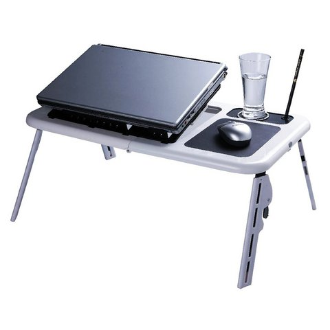 Vassoio tavolino pc notebook 2 ventole raffreddamento