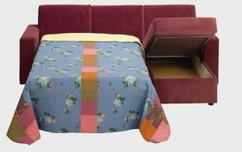 Divano pronto letto penisola contenitore rete estraibile for Sconti divano letto