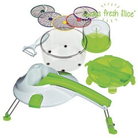 Affettatrice di verdure taglia grattugia trita e schiacci