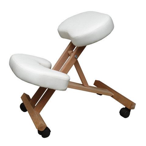 Sgabello ergonomico in legno con sedile e poggiapiedi for Sedie a prezzi bassi