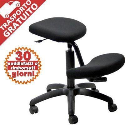 Sedia ergonomica ginocchia per casa o ufficio grandi for Sedia ufficio postura