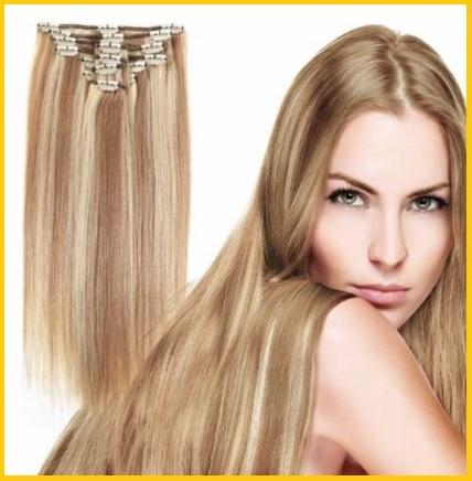 Extension capelli veri o sintetici biondo misto