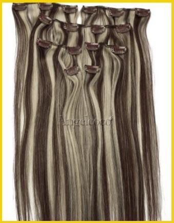 Extension capelli veri clip biondo scuro