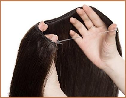 Extension capelli con filo invisibile