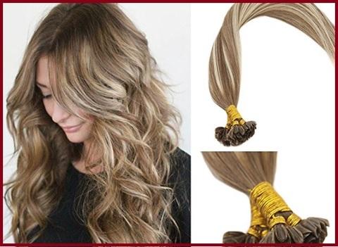 Extension capelli biondo platino