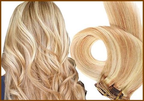 Extension capelli biondo veri