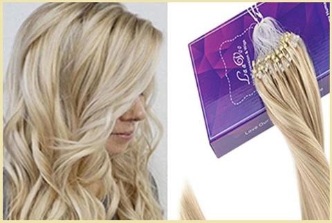 Extension capelli biondo naturale