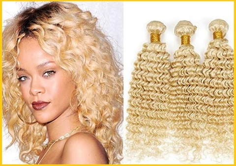 Extension capelli biondi ricci